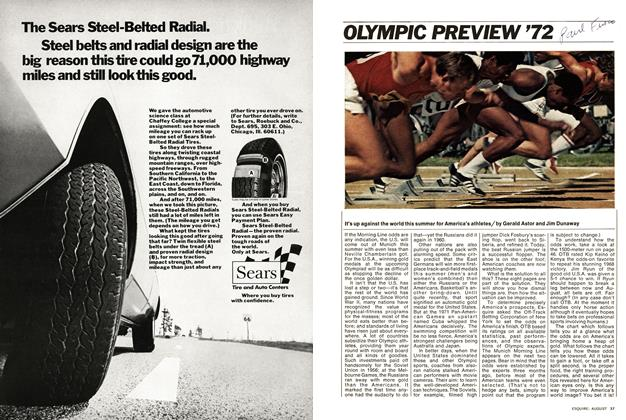 Article Preview: OLYMPIC PREVIEW '72, August 1972 | Esquire