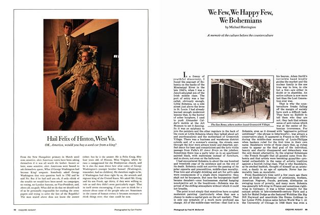 Article Preview: Hail Felix of Hinton, West Va., AUGUST 1972 1972 | Esquire
