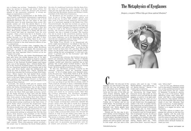 Article Preview: The Metaphysics of Eyeglasses, SEPTEMBER 1972 1972 | Esquire