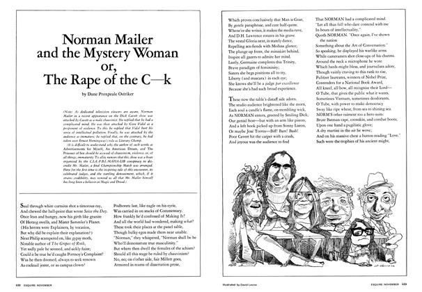 Article Preview: Norman Mailer and the Mystery Woman , November 1972 | Esquire