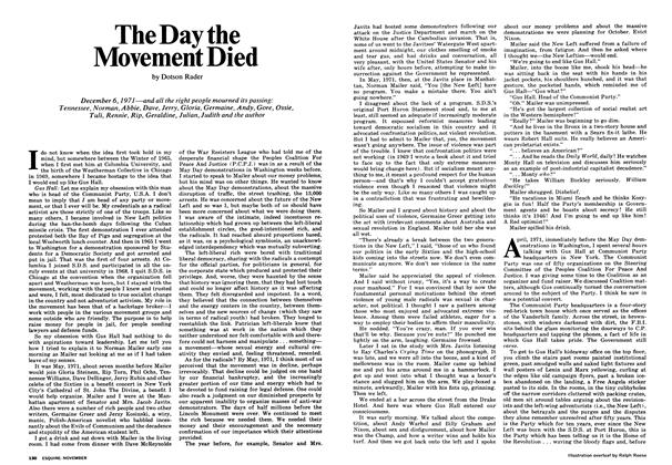 Article Preview: The Day the Movement Died, NOVEMBER 1972 1972 | Esquire