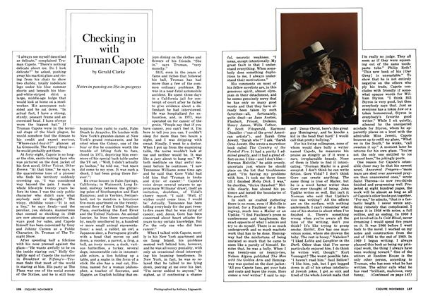Article Preview: Checking in with Truman Capote, November 1972 | Esquire