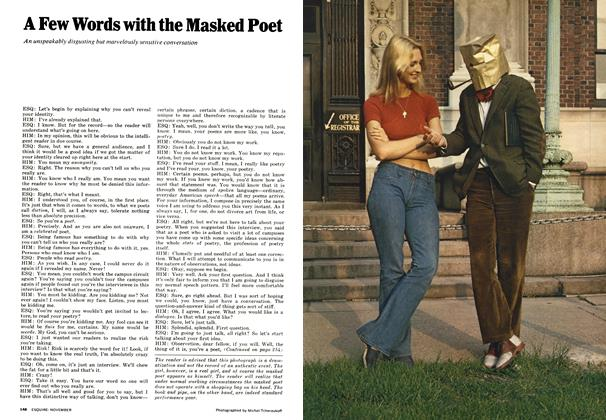 Article Preview: A Few Words with the Masked Poet, November 1972 | Esquire