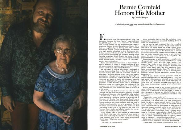 Article Preview: Bernie Cornfeld Honors His Mother, NOVEMBER 1972 1972 | Esquire