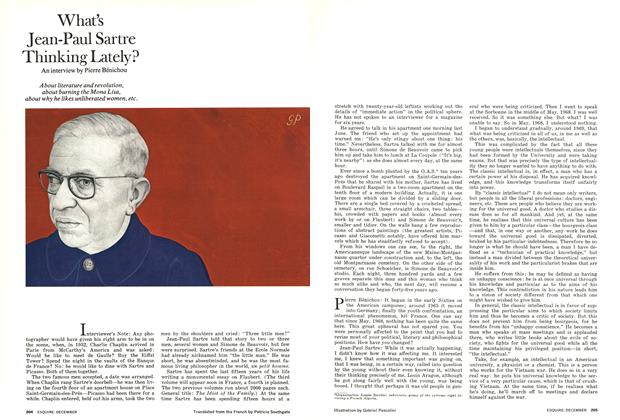 Article Preview: What's Jean-Paul Sartre Thinking Lately?, DECEMBER 1972 1972 | Esquire