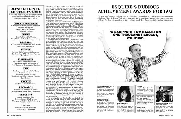 Article Preview: Esquire's Dubious Achievement Awards for 1972, January 1973 | Esquire