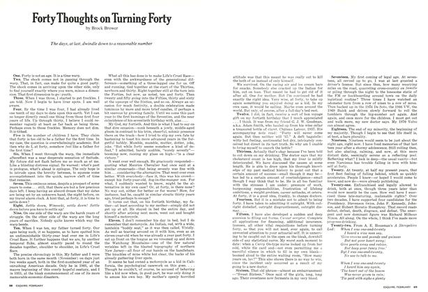 Article Preview: Forty Thoughts on Turning Forty, FEBRUARY 1973 1973 | Esquire