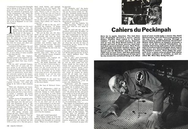 Article Preview: Cahiers Du Peckinpah, FEBRUARY 1973 1973   Esquire