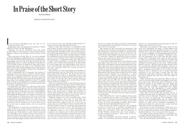 Article Preview: In Praise of the Short Story, FEBRUARY 1973 1973 | Esquire
