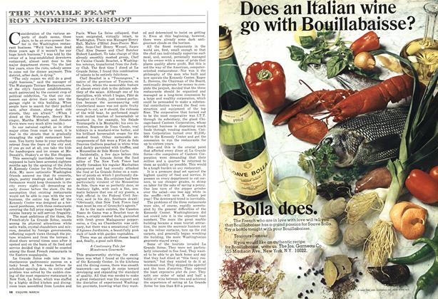Article Preview: The Movable Feast, MARCH 1973 1973 | Esquire