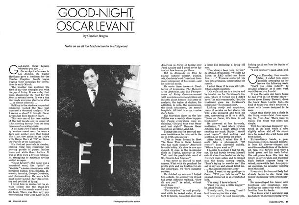 Article Preview: Good-night, Oscar Levant, APRIL 1973 1973 | Esquire