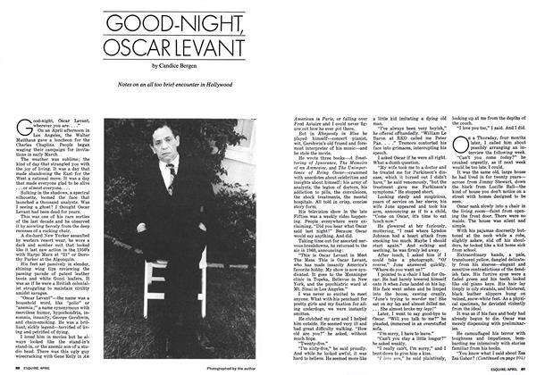 Article Preview: Good-night, Oscar Levant, April 1973 | Esquire