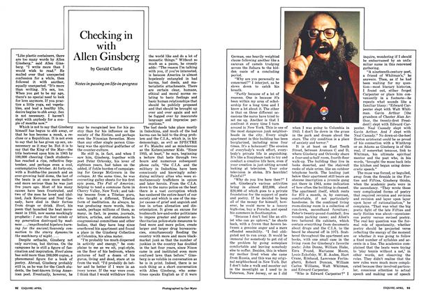 Article Preview: Checking in with Allen Ginsberg, April 1973 | Esquire