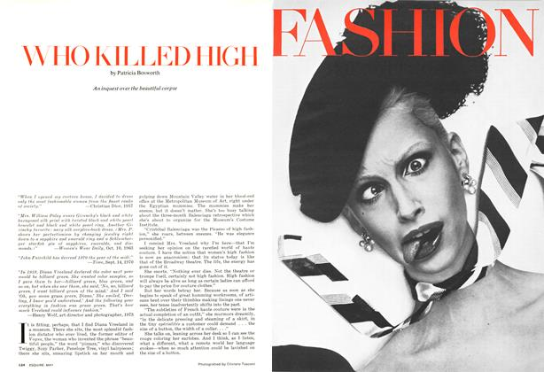 Article Preview: Who Killed High Fashion, MAY 1973 1973 | Esquire