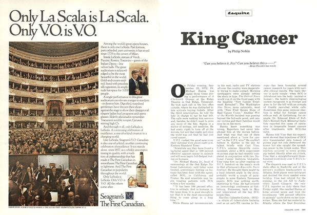 Article Preview: King Cancer, June 1973 | Esquire