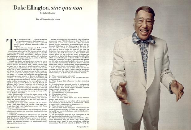 Article Preview: Duke Ellington, Sine Qua Non, JUNE 1973 1973 | Esquire