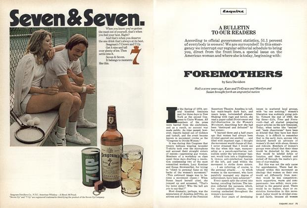 Article Preview: Foremothers, July 1973 | Esquire
