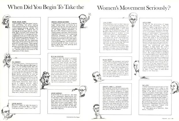 When Did You Begin to Take the Women's Movement Seriously?
