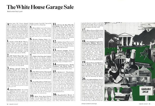 The White House Garage Sale