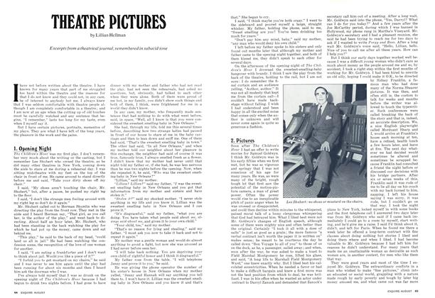 Article Preview: THEATRE PICTURES, AUGUST 1973 1973 | Esquire