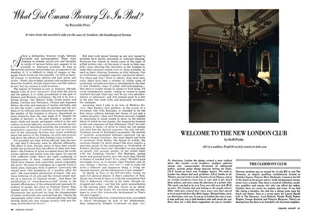 Article Preview: WELCOME TO THE NEW LONDON CLUB, AUGUST 1973 1973 | Esquire
