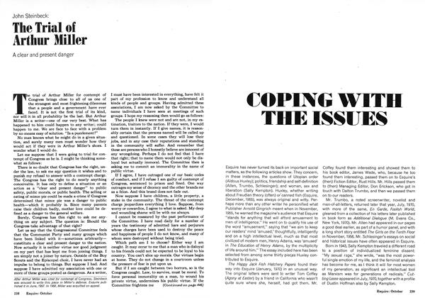 Article Preview: The Trial of Arthur Miller, OCTOBER 1973 1973 | Esquire