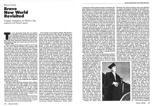 Article Preview: Brave New World Revisited, October 1973 | Esquire