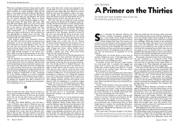 Article Preview: A Primer on the Thirties, OCTOBER 1973 1973 | Esquire