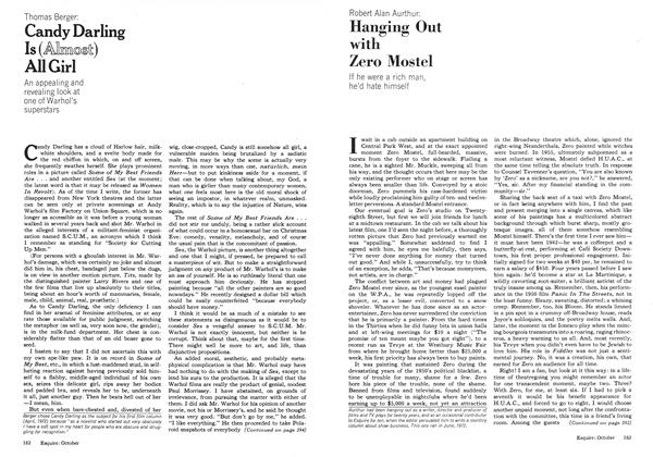Article Preview: Hanging Out with Zero Mostel, OCTOBER 1973 1973 | Esquire