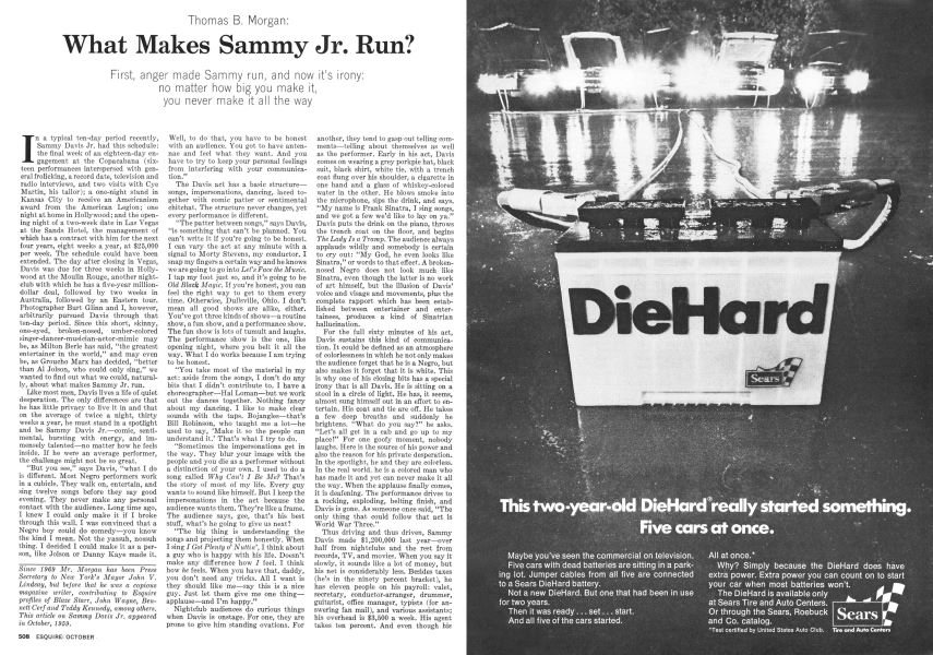 What Makes Sammy Jr  Run? | Esquire | OCTOBER 1973