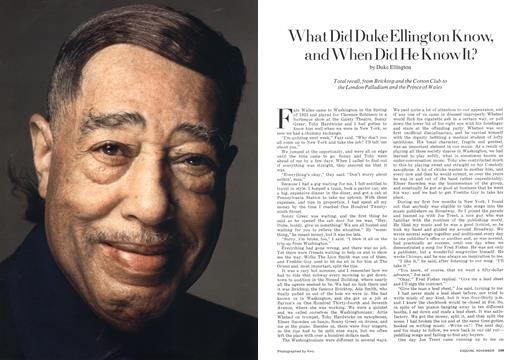 What Did Duke Ellington Know, and When Did He Know It? - November | Esquire