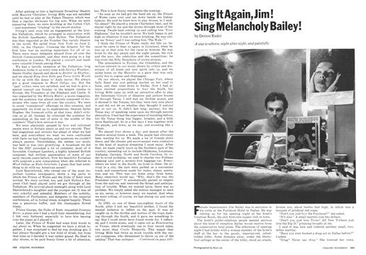 Sing It Again, Jim! Sing Melancholy Bailey! - November | Esquire