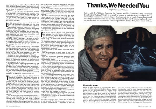 Article Preview: Thanks, We Needed You, NOVEMBER 1973 1973 | Esquire