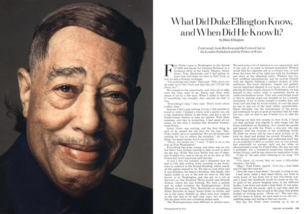 Article Preview: What Did Duke Ellington Know, and When Did He Know It?, November 1973 | Esquire