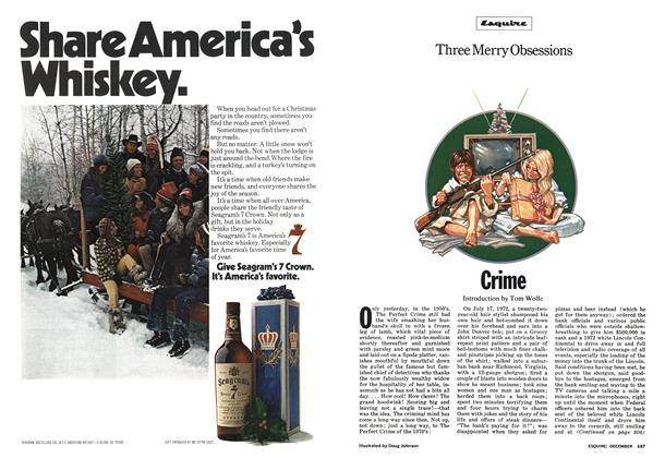 Article Preview: Three Merry Obsessions, December 1973 | Esquire