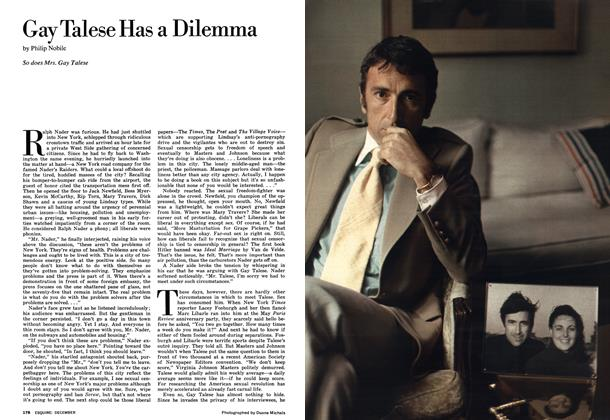Gay Talese Has a Dilemma