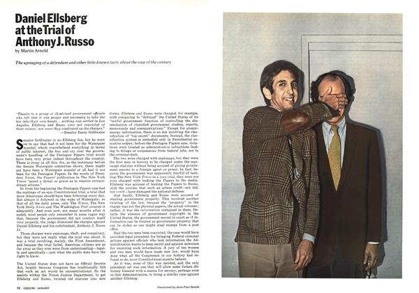 Article Preview: Daniel Ellsberg at the Trial of Anthony J. Russo, JANUARY 1974 | Esquire