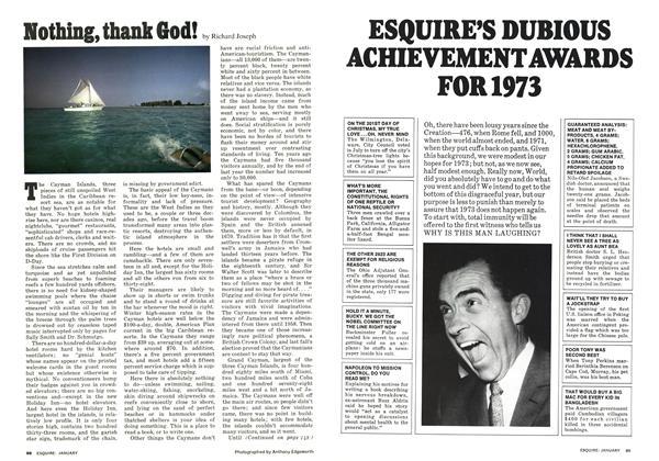 Article Preview: Esquire's Dubious Achievement Awards for 1973, JANAURY 1974 1974 | Esquire