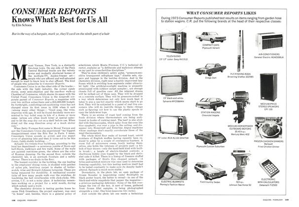 Article Preview: Consumer Reports Knows What's Best for Us All, February 1974 | Esquire