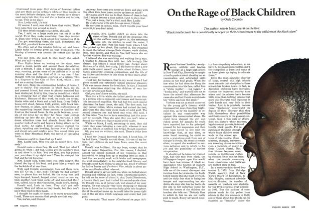 On the Rage of Black Children