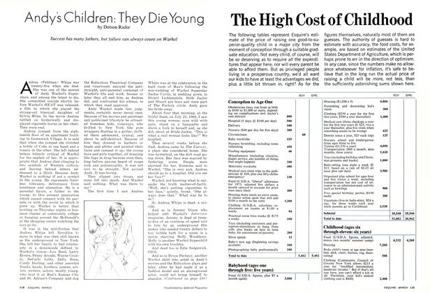 Article Preview: Andy's Children: They Die Young, March 1974 | Esquire