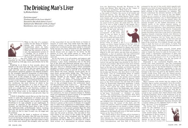 Article Preview: The Drinking Man's Liver, APRIL 1974 1974   Esquire