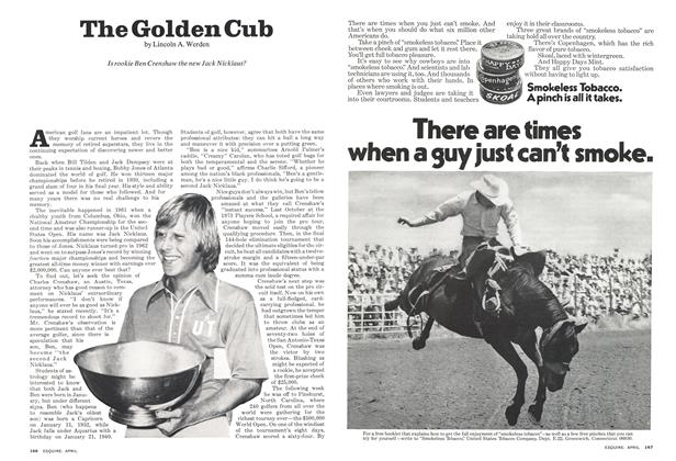 Article Preview: The Golden Cub, April 1974 | Esquire