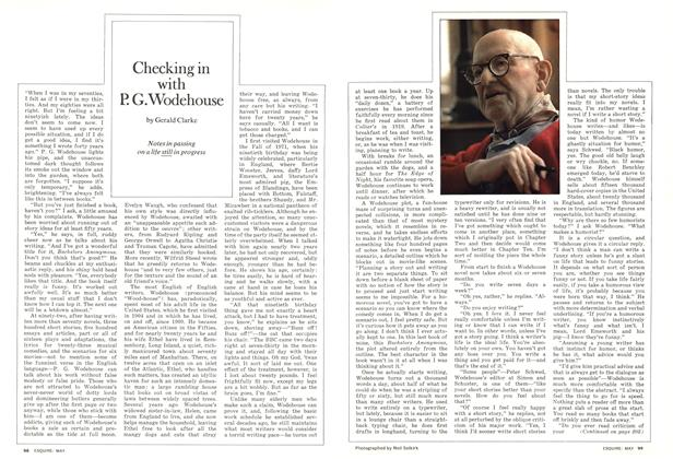 Article Preview: Checking in with P.G. Wodehouse, MAY 1974 1974 | Esquire