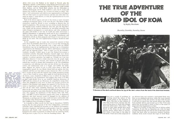 Article Preview: The True Adventure of the Sacred Idol of Kom, May 1974 | Esquire
