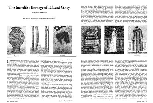 The Incredible Revenge of Edward Gorey - June | Esquire