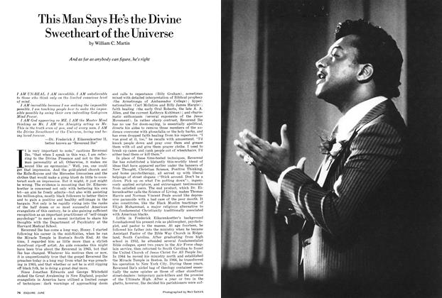 Article Preview: This Man Says He's the Divine Sweetheart of the Universe, June 1974 | Esquire