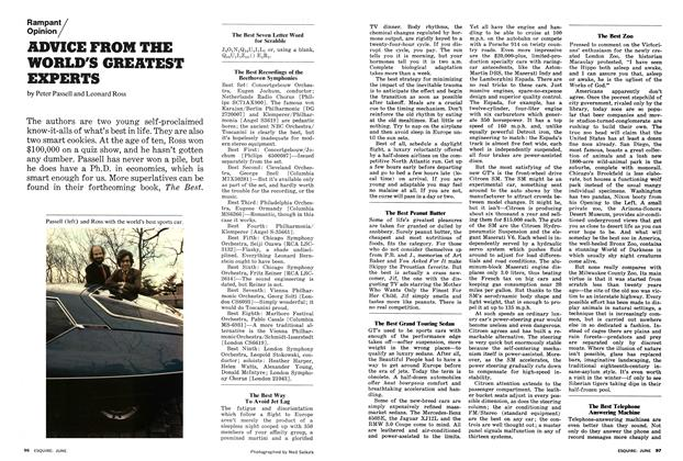 Article Preview: Advice from the World's Greatest Experts, June 1974 | Esquire