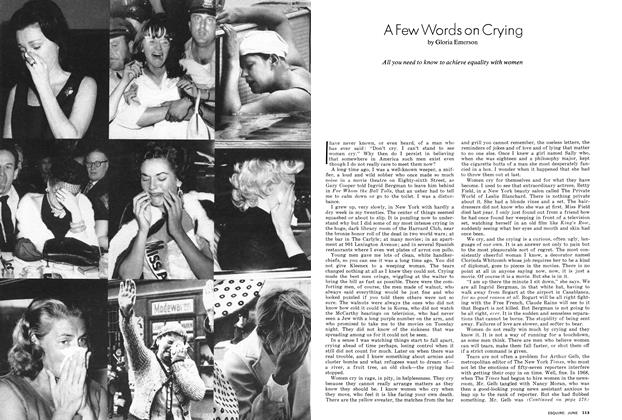 Article Preview: A Few Words on Crying, JUNE 1974 1974   Esquire