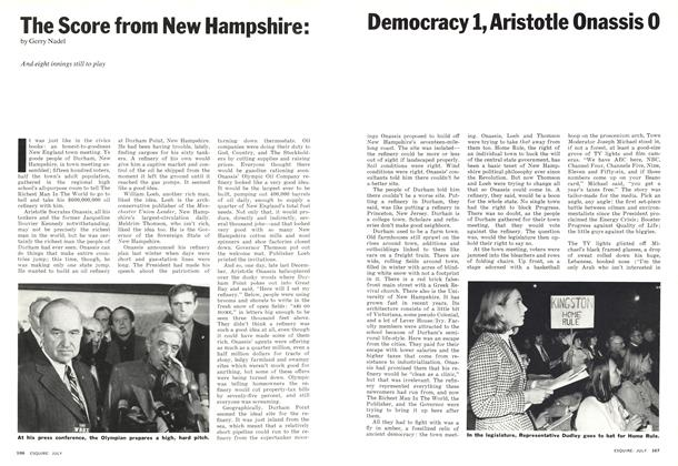 Article Preview: The Score From New Hampshire: Democracy 1, Aristotle Onassis 0, JULY 1974 1974 | Esquire